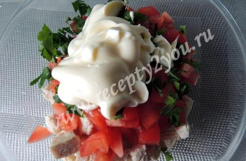 Салат в лодочках из авокадо фото 6