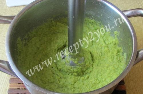 Суп-крем из зеленого горошка фото 5