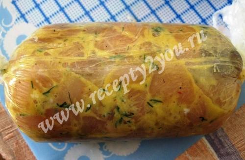 Рецепт куриной колбасы в домашних условиях фото 6