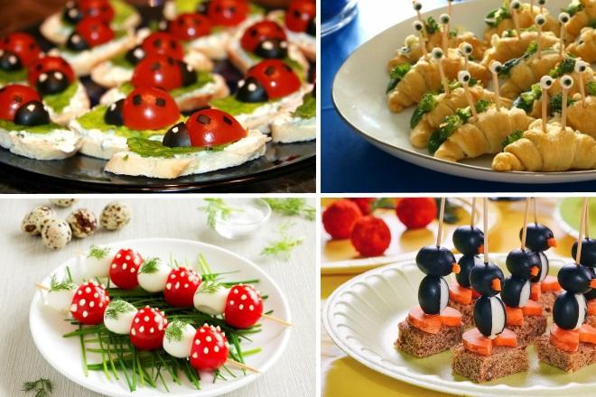 Праздничные закуски для детей