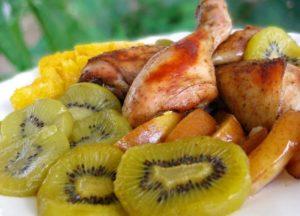 Курица с киви